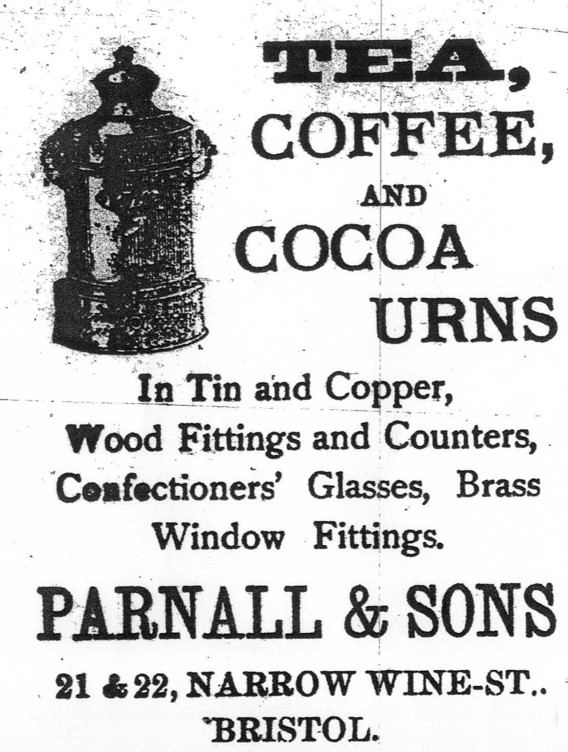 Parnall advert Bristol Magpie 20 March 1886 (1)