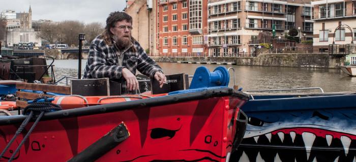 Richard on a boat