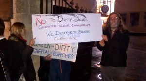 Power plant protest