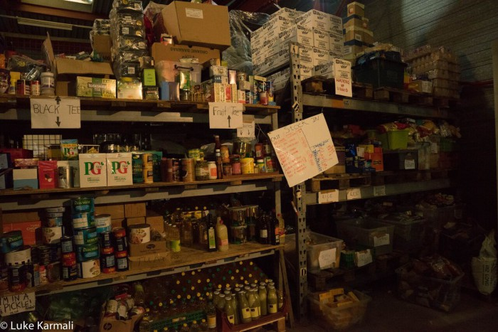 An amazingly comprehensive array of food, all donated. The kitchen team do an amazing job.