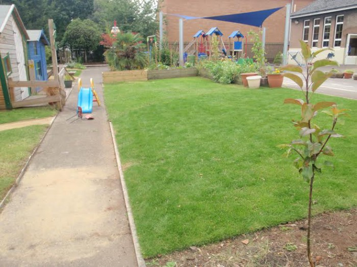 The play garden at St Philips Marsh nursery school. Credit: St Philips Marsh Nursery School.