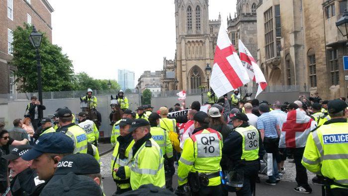 Far right demo, Bristol June 2016