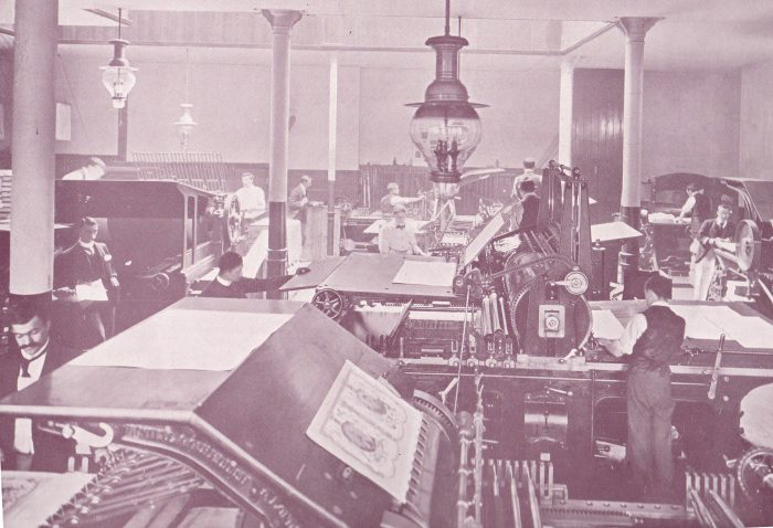 print house in the early 20th century