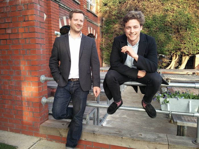 Marks Out Of Tenancy founder Ben Yarrow (left) and operations manager Tom Dickinson