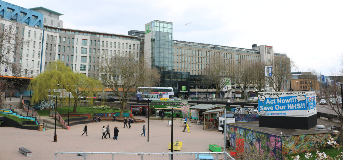 Wide view of the Bearpit