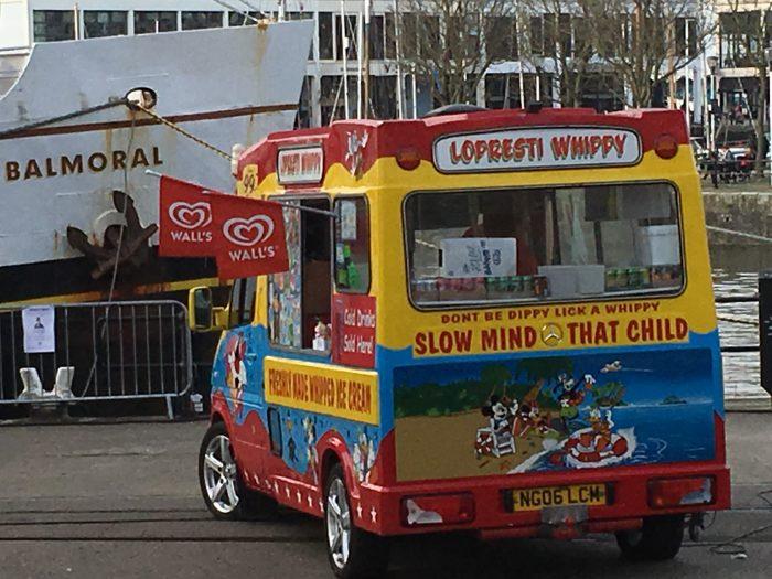 Ice cream van with Lopresti on the front