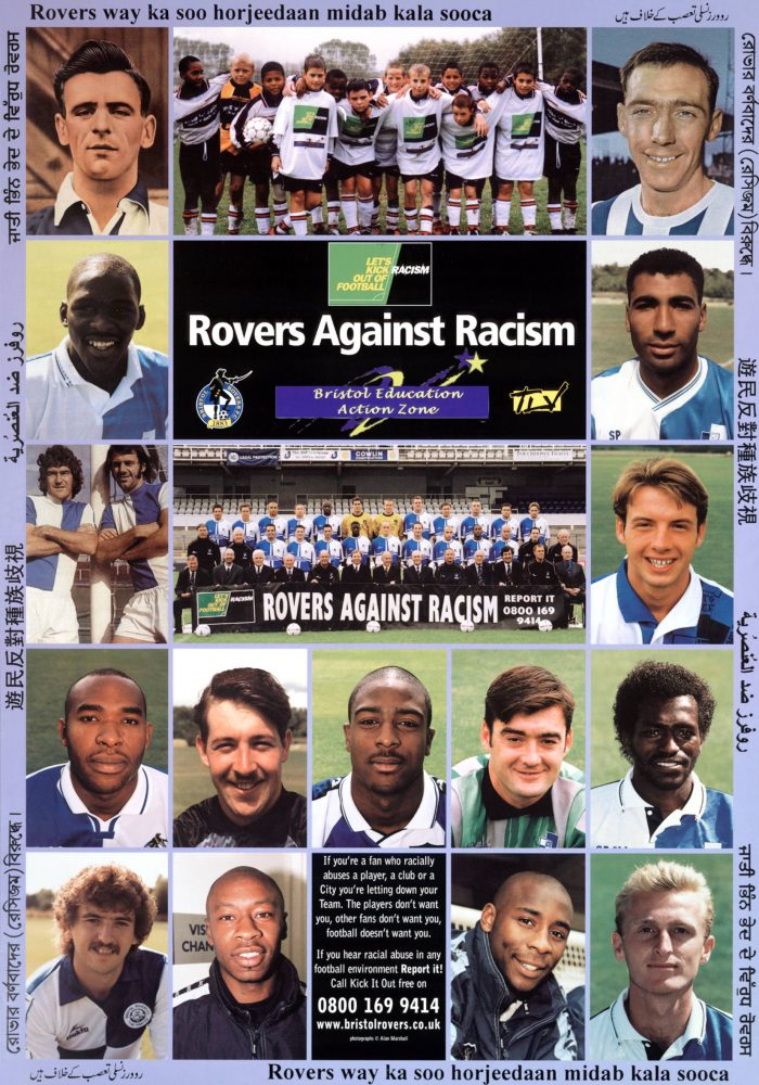 Rovers against racism poster