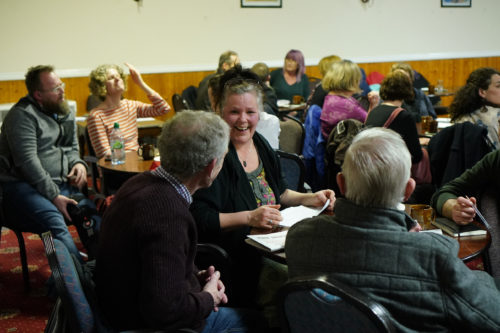 Image of people talking at event in Hartcliffe